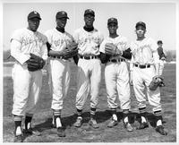 Players from 1961 baseball team. Dom Johnson, Jim Branch, Jim Spivey, Tom Rucker, Ron Munson.
