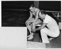 Coach John Hussay and Dick Holmes.