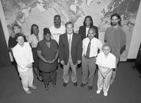 The International Services Office Staff poses for a portrait.