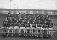 A team portrait of the 1986 baseball team.