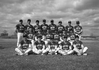 1985 baseball team portrait.