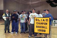 1999 baseball team receives a banner for the conference.