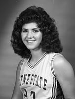 A portrait of a woman from the girl's basketball team.