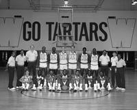 1985 basketball team portrait.