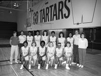1985 women's basketball team portrait.