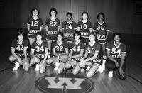 Portrait 1981 women's basketball team.