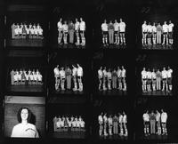 Proof sheet of the 1975 women's basketball team.