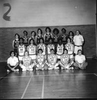 Proof sheet of the 1976 women's basketball team.