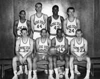 Team portrait 1962 basketball.