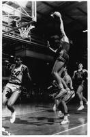 1967 basketball action shot.