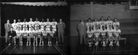 Composite 1960 basketball team portraits.