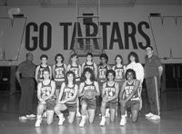 1989 women's basketball team portrait.