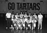 1990 women's basketball team portrait.