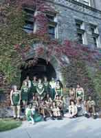 1992 women's basketball team outdoor portrait.