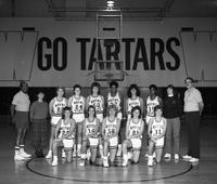 1986 women's basketball team portrait.