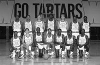 1986-1987 basketball team portrait.