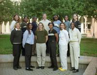 1999 women's basketball outdoor team portrait.