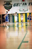 2001 women's basketball action shot versus Mercyhurst.