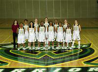 2001 women's basketball team portrait.