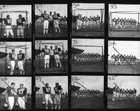 1970 football team portraits.