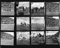1975 football team composite action shot.