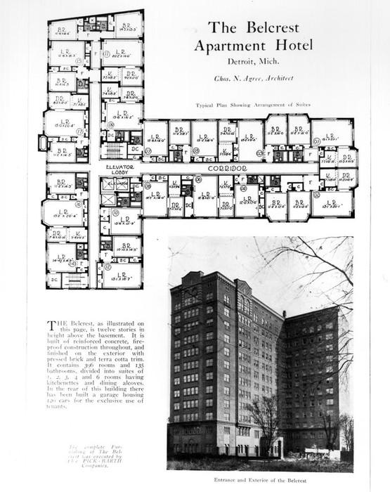 Wayne State University Buildings Belcrest Apartment And Hotel Wayne State University Digital Collections