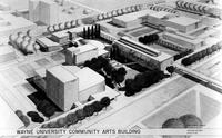 Wayne State University; Buildings; Community Arts - Architect's Sketches