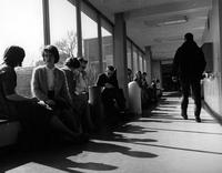 Wayne State University; Buildings; Crowded Conditions