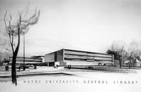 Wayne State University; Buildings; Libraries 2; Architect's Drawings