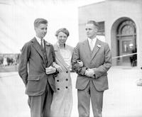 Roosevelt, Franklin D. ; Family. Mrs. Roosevelt with son, John and Elliot.