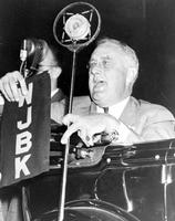 Roosevelt, President Franklin D. ; In Detroit. Giving speech