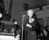 Roosevelt, Mrs. Franklin D. ; In Detroit. Speaking at Ebenezer Church