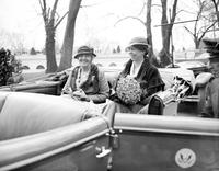 Roosevelt, Mrs. Franklin D. with Mrs. Herbert Hoover.