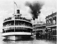 Steamships; Pleasure. & Tashmoo.