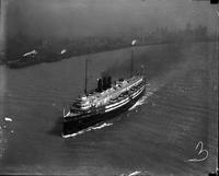Steamships; types. Overhead views of City of Detroit III.