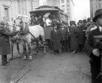 Street Railways; Cars. Horse car parade.