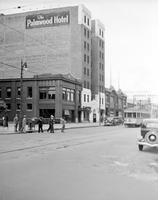 Streets; Woodward. before widening. South of Blvd. Palmwood Hotel. Woods dancing academy at Milwaukee.