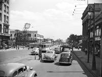 Streets; Woodward. before widening. South of Grand Blvd.
