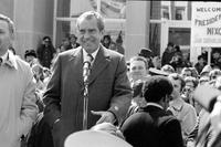 Nixon, Richard M. ; United States; President. - Welcomed by townspeople during trip through Michigan's thumb area.