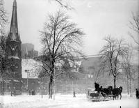 Parks; Grand Circus Park; Winter Scenes. Snow storm. Jan 1927 / Jan 1929.
