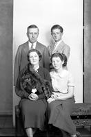 Scripps, William E. & Family. Family Portraits. Mrs. Scripps, Mary Ann Scripps, & Robert W. Scripps. 5 acetate. 1 glass.