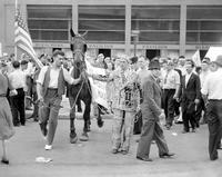 Picketing; Briggs Stadium. Detroit.