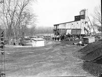 Mining; Swan Creek Coal Mine at St. Charles. Workers. Building