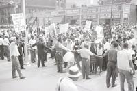 Negroes; Detroit. - Pickets at police hdqtrs. to protest fatal shooting of negro woman by police officer.