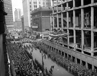 Federal Building; Cornerstone Laying. Parade. 2 negs