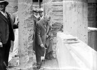 Federal Building; Cornerstone Laying . Ferry K. Heath. Laying Cornerstone. 2 negs