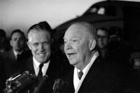 Eisenhower, Dwight D. ; Former United States President in Detroit. -With; Governor George Romney