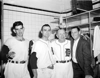 Dykes, Jimmy; Manager; Detroit Tigers; Groups. With Frank Lary, Chas. Maxwell & Don Mossi.