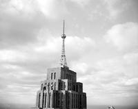 Detroit News Radio; Short Wave Station. Tower Showing antenna. See also Penobscot building.