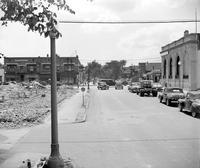 Streets; Davison. Before Widening. Streets - Davison Looking East Across Woodward